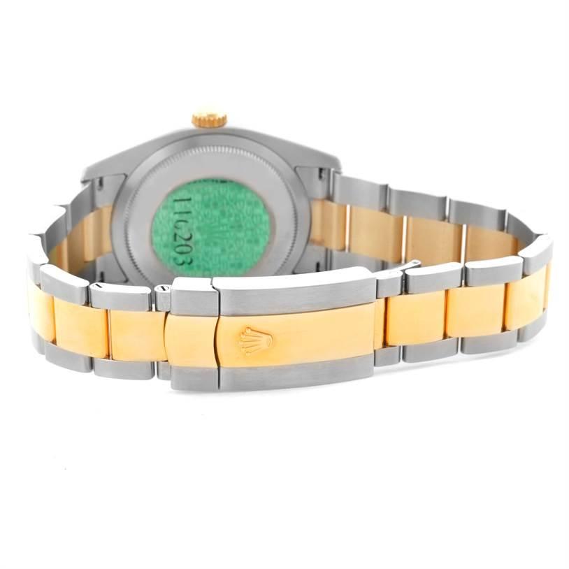 Rolex Datejust Steel Yellow Gold Jubilee Dial Mens Watch 116203 Unworn SwissWatchExpo