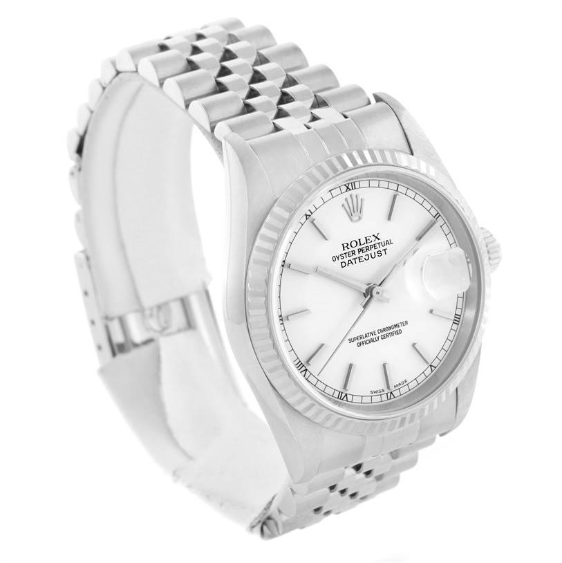 11306 Rolex Datejust Steel 18k White Gold Jubilee Bracelet Mens Watch 16234 SwissWatchExpo
