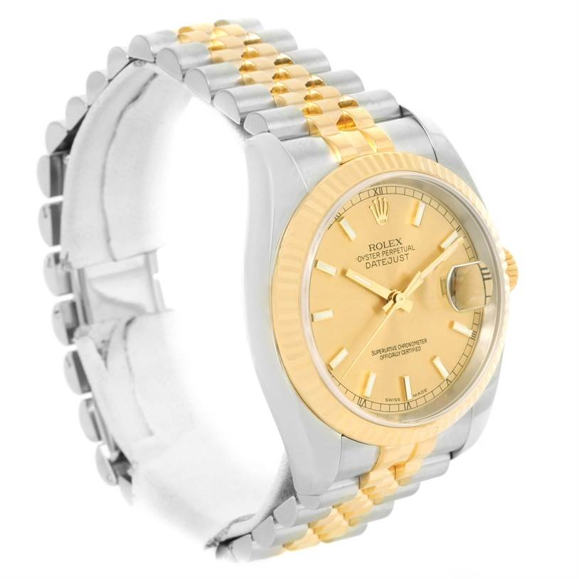 cfa12e257c477 ... 12641 Rolex Datejust Steel 18K Yellow Gold Automatic Mens Watch 116233  SwissWatchExpo ...