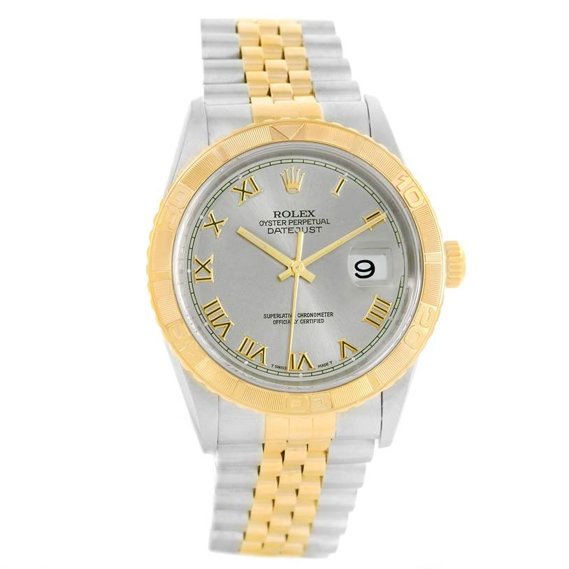 Rolex Datejust Turnograph Mens Steel 18k Yellow Gold Watch 16263 includes trade $2200.00 SwissWatchExpo