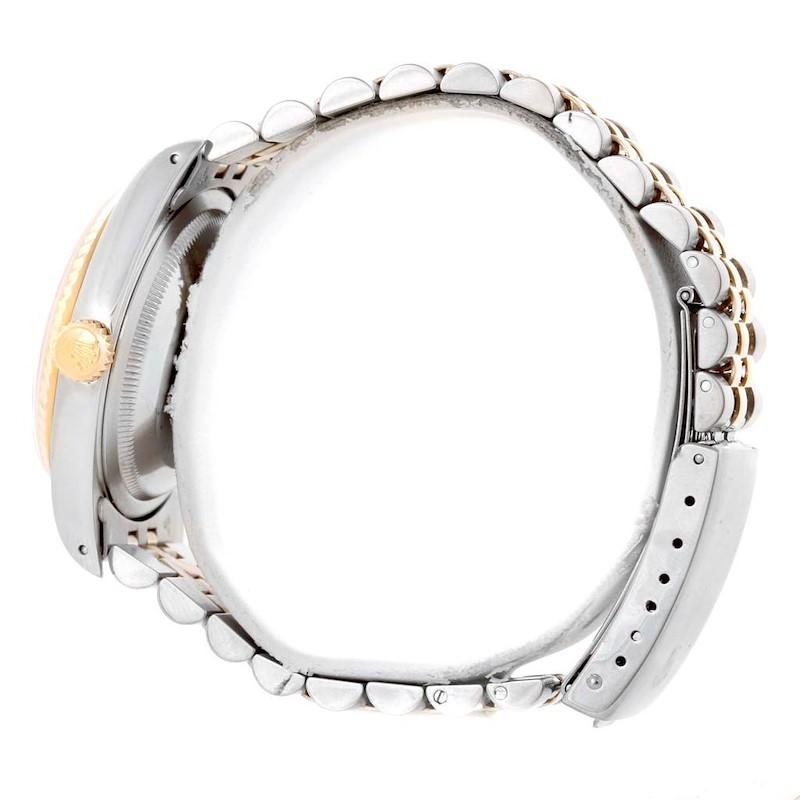 Rolex Datejust Steel Yellow Gold Diamond Dial Unisex Watch 16233 SwissWatchExpo