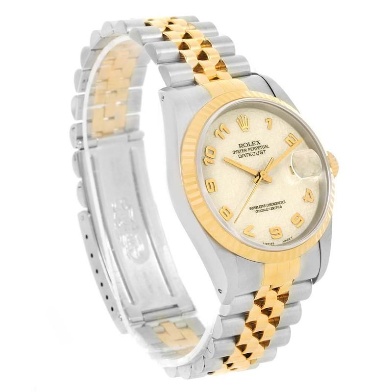 Rolex Datejust Steel Yellow Gold Ivory Jubilee Dial Mens Watch 16233 SwissWatchExpo