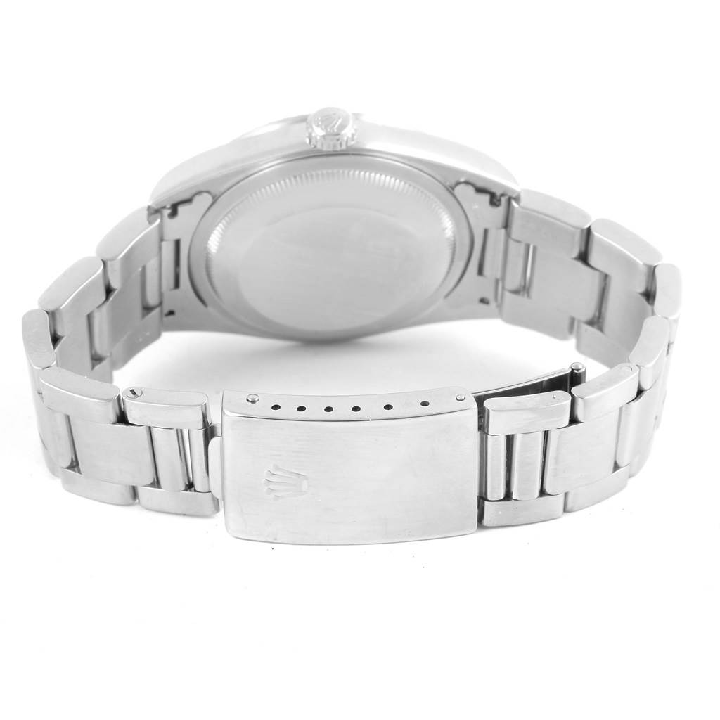 Rolex Datejust White Roman Dial Steel Mens Watch 16220 Box Papers SwissWatchExpo