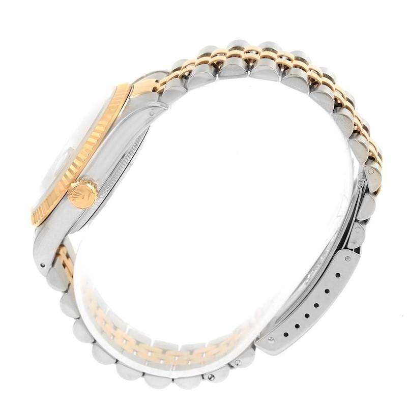 Rolex Datejust 36 Steel Yellow Gold Blue Dial Mens Watch 16233 SwissWatchExpo