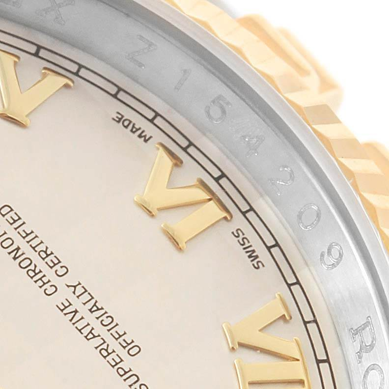 Rolex Datejust Steel Yellow Gold Ivory Pyramid Dial Mens Watch 116233 SwissWatchExpo