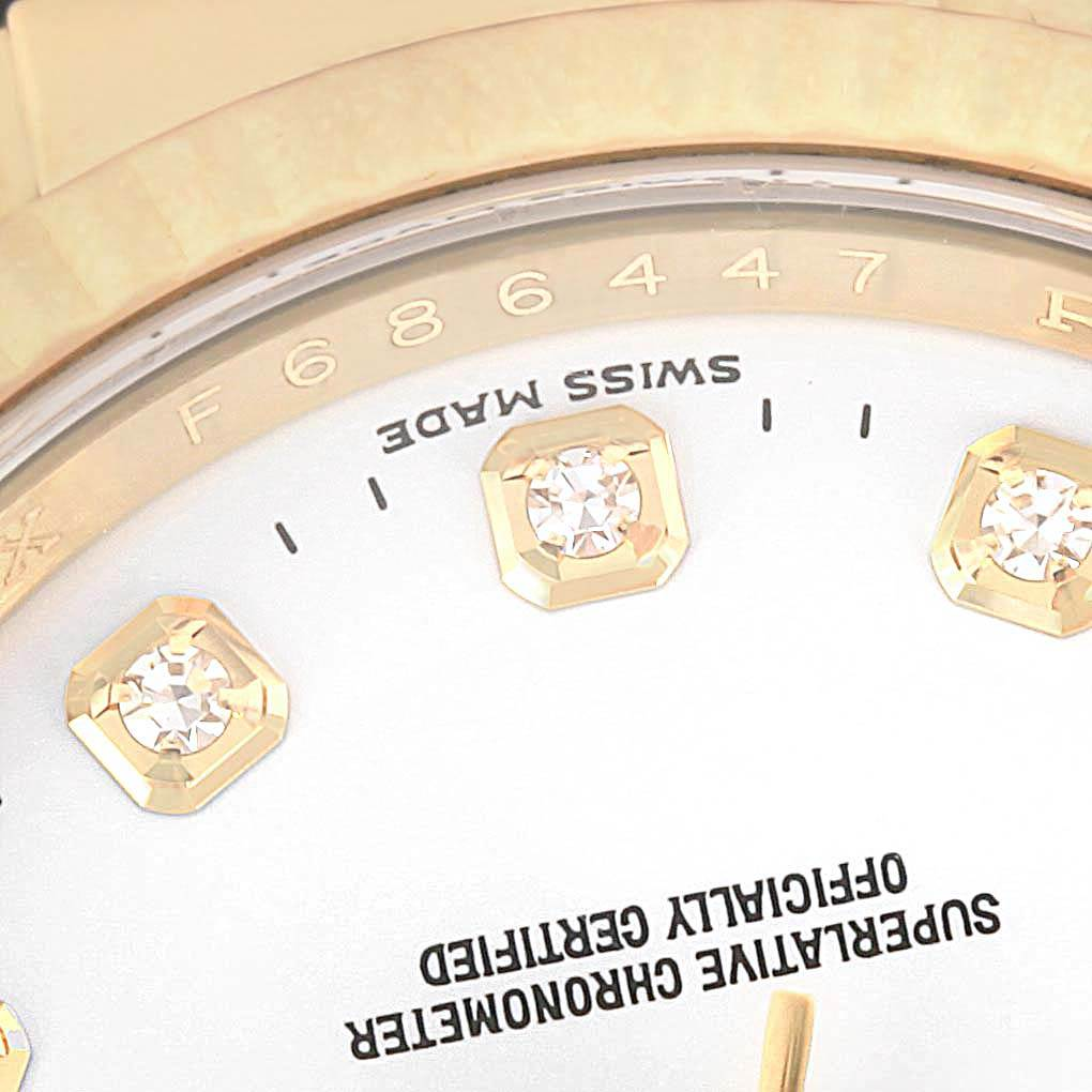 Rolex Datejust 36 Yellow Gold White Diamond Dial Unisex Watch 116138 SwissWatchExpo