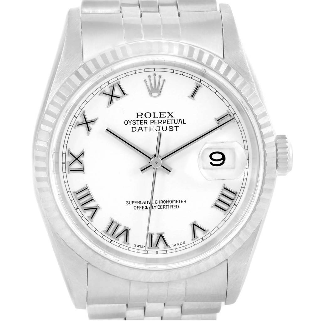 gold steel watches bracelet jubilee datejust rolex fluted product bezel stainless white dial pink psj