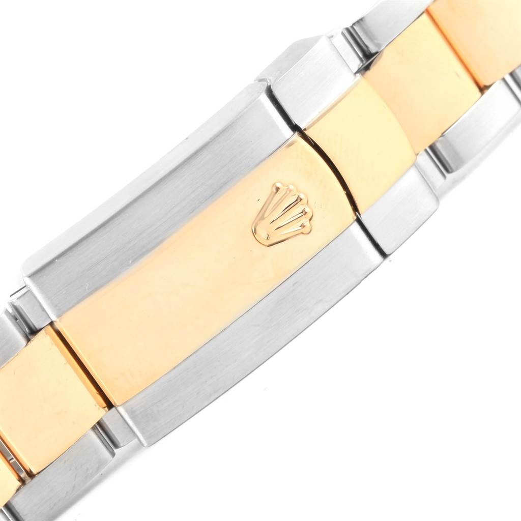 Rolex Datejust Steel Yellow Gold Silver Baton Dial Mens Watch 116233 SwissWatchExpo