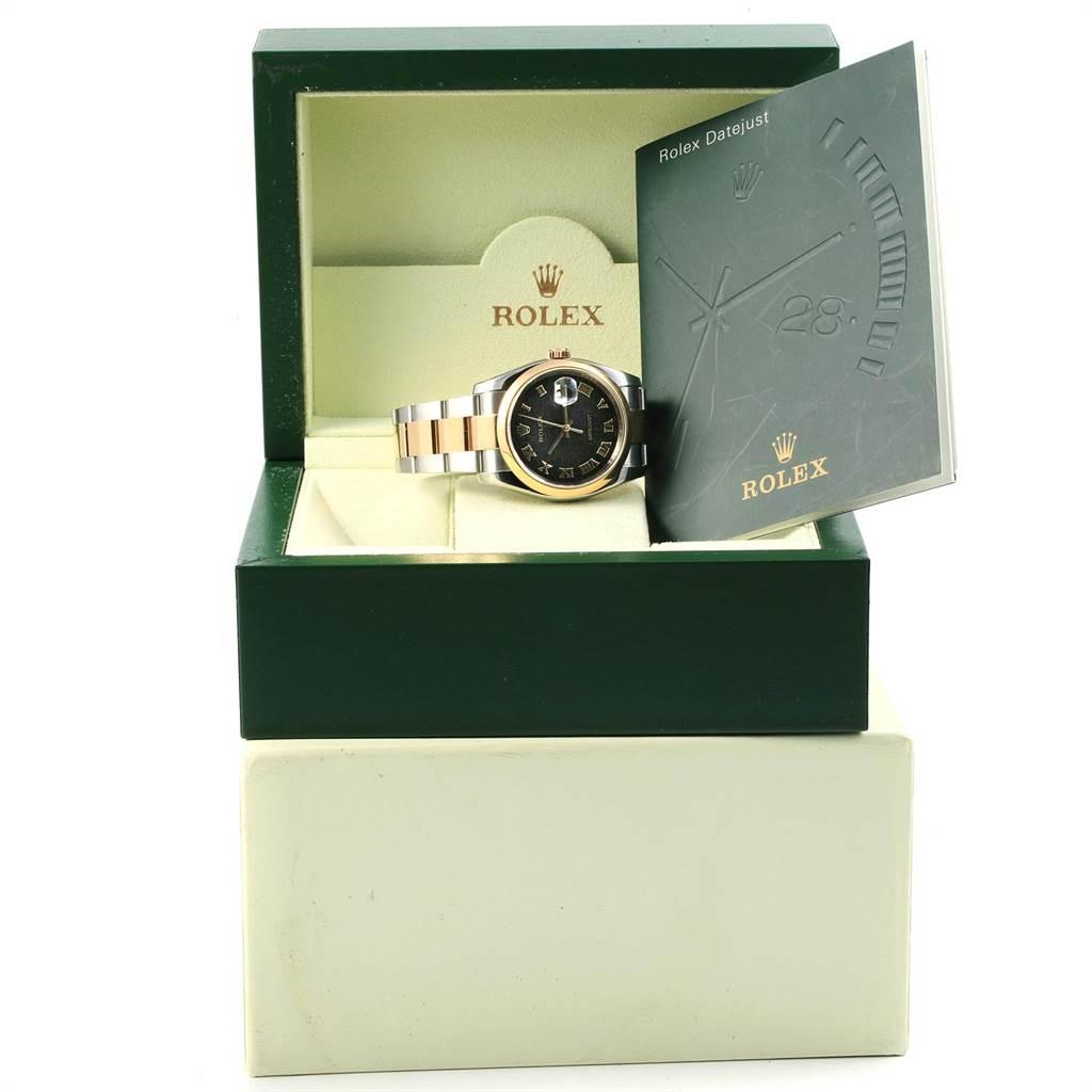 18401 Rolex Datejust Steel Yellow Gold Jubilee Roman Dial Mens Watch 116203 SwissWatchExpo