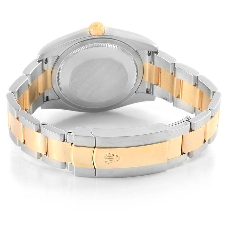 Rolex Datejust Steel Yellow Gold Jubilee Roman Dial Mens Watch 116203 SwissWatchExpo