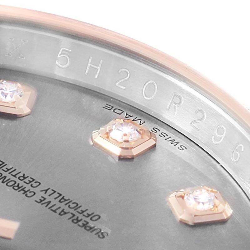 Rolex Datejust 36 Steel EveRose Gold Diamond Unisex Watch 116231 SwissWatchExpo