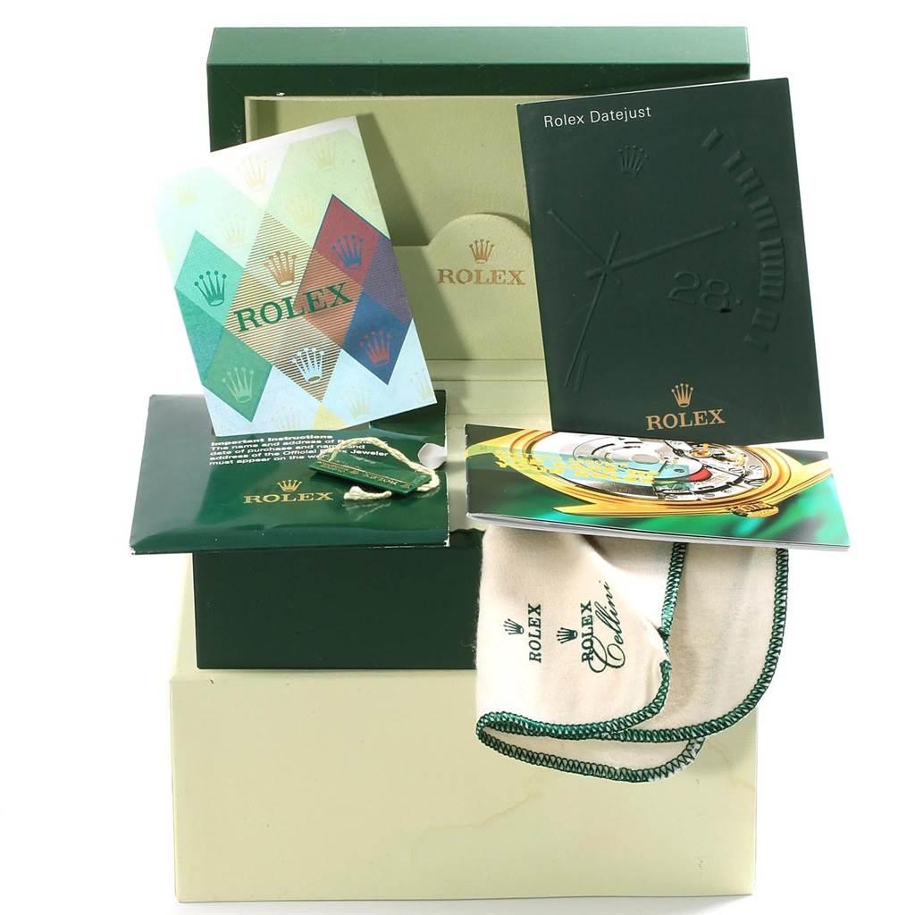 Rolex Datejust 36 Steel Yellow Gold Diamond Watch 116233 Box Papers SwissWatchExpo