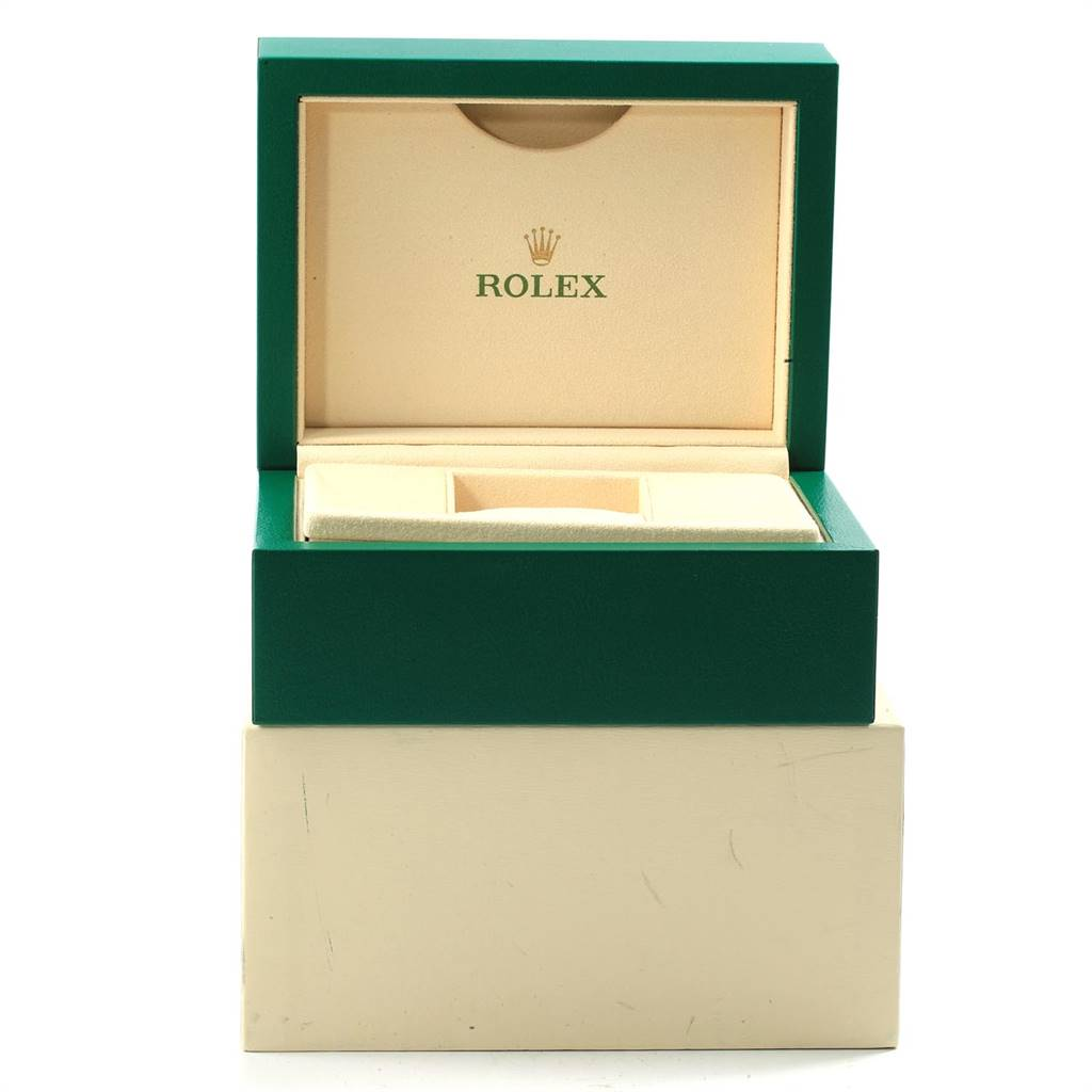 18396 Rolex Datejust Silver Roman Dial Steel Mens Watch 116200 SwissWatchExpo