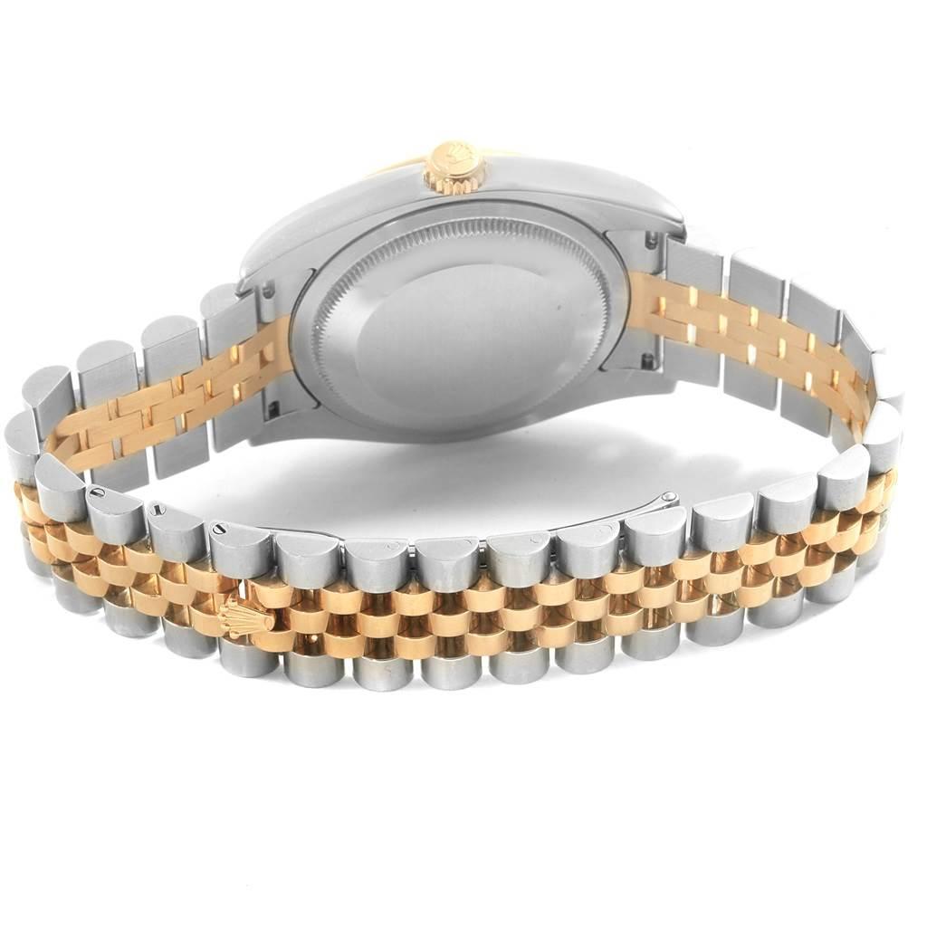 Rolex Datejust Steel Yellow Gold Rhodium Roman Dial Mens Watch 116233 SwissWatchExpo