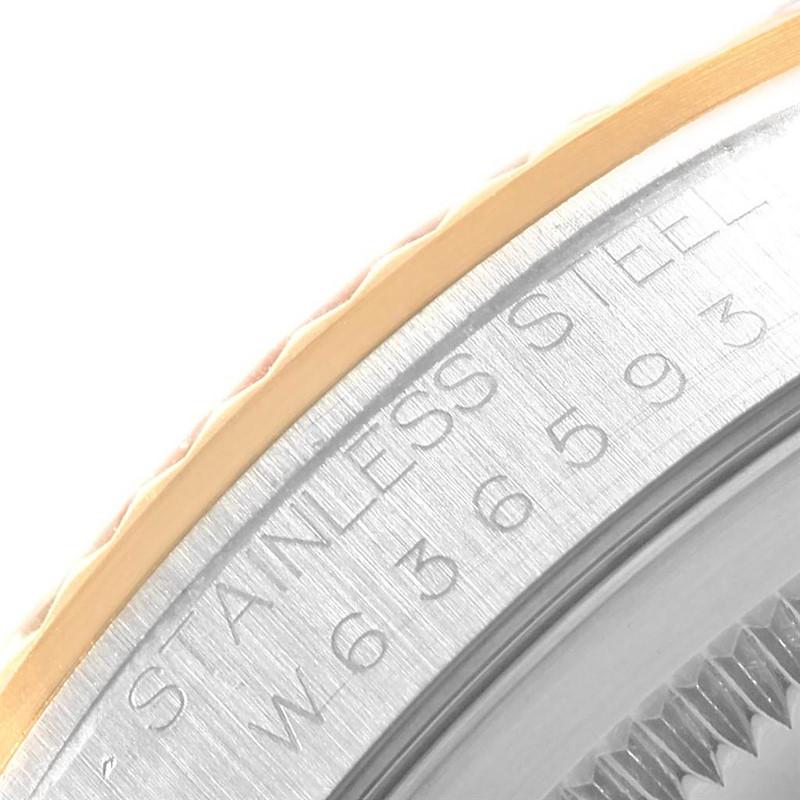 Rolex Datejust 36 Steel 18K Yellow Gold Diamond Dial Watch 16233 SwissWatchExpo