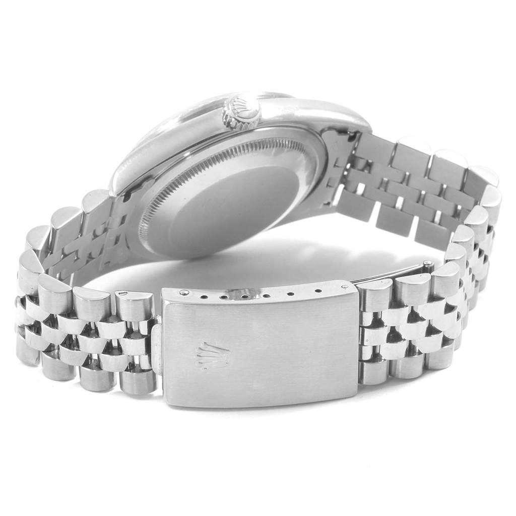 Rolex Datejust 36 Blue Roman Dial Steel Mens Watch 16220 SwissWatchExpo