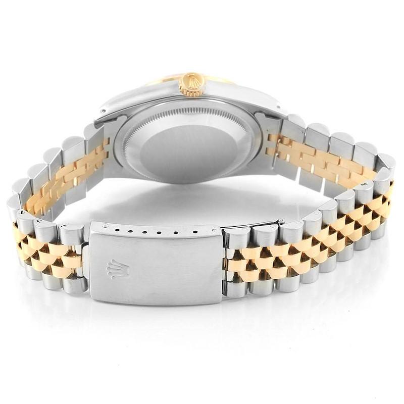 Rolex Datejust 36 Steel 18K Yellow Gold Diamond Unisex Watch 16233 SwissWatchExpo