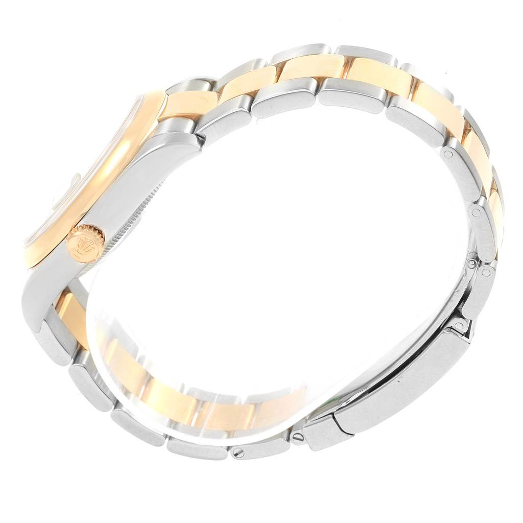 Rolex Datejust 36 Steel Yellow Gold Sunbeam Dial Watch 116203 Box Papers SwissWatchExpo