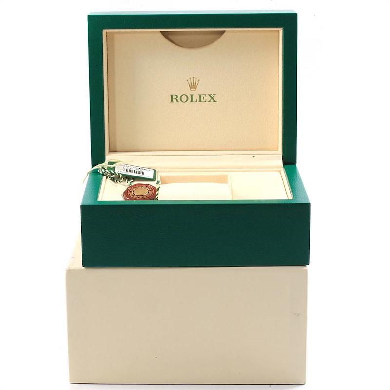 Rolex Datejust 36mm Silver Oyster Bracelet Steel Mens 116200 SwissWatchExpo