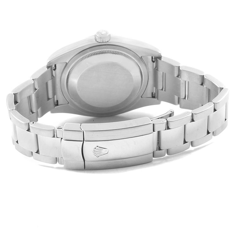 Rolex Datejust 36 Grey Concentric Dial Oyster Bracelet Mens Watch 116200 SwissWatchExpo