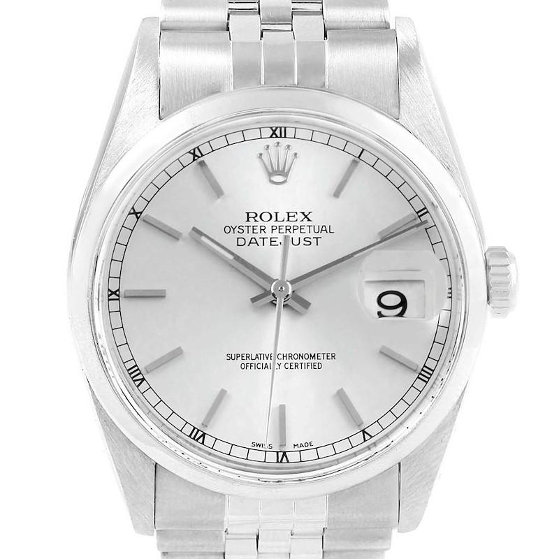 Rolex Datejust 36 Silver Dial Jubilee Bracelet Steel Mens Watch 16200 SwissWatchExpo