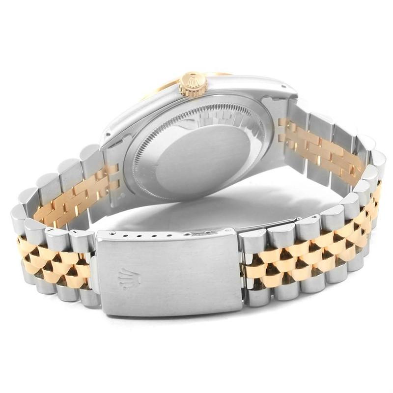 Rolex Datejust 36 Steel 18K Yellow Gold Roman Dial Mens Watch 16233 SwissWatchExpo