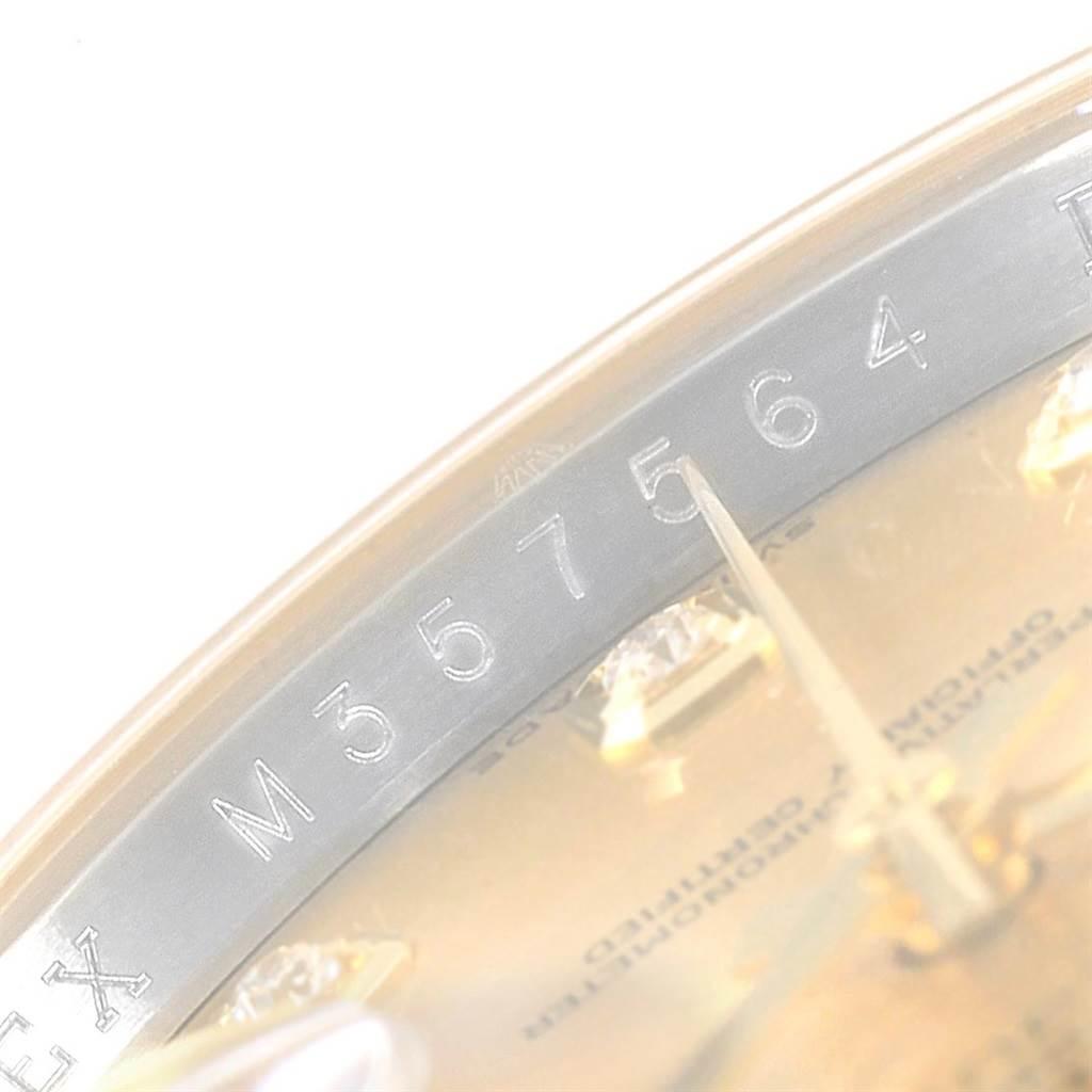 Rolex Datejust 36 Steel Yellow Gold Diamond Mens Watch 116233 SwissWatchExpo