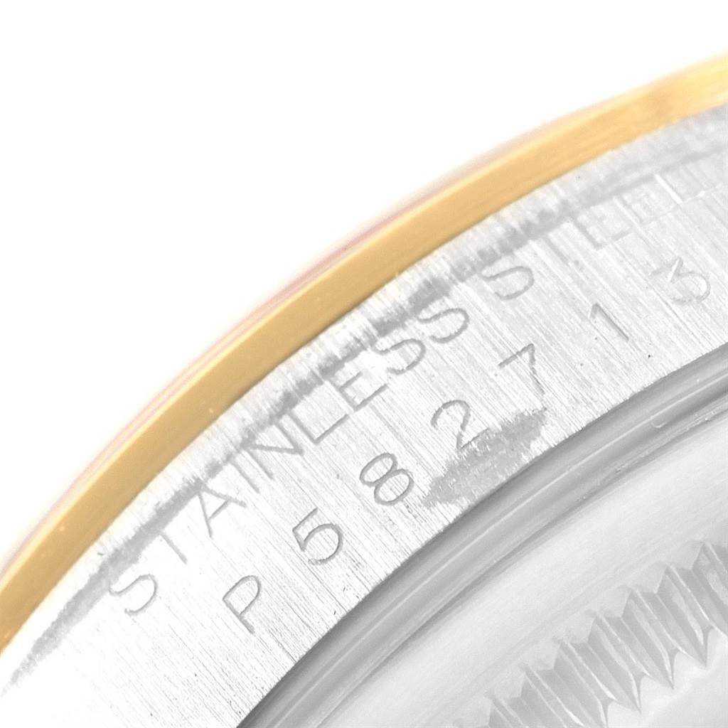 Rolex Datejust 36 Steel Yellow Gold White Roman Dial Mens Watch 16203 SwissWatchExpo