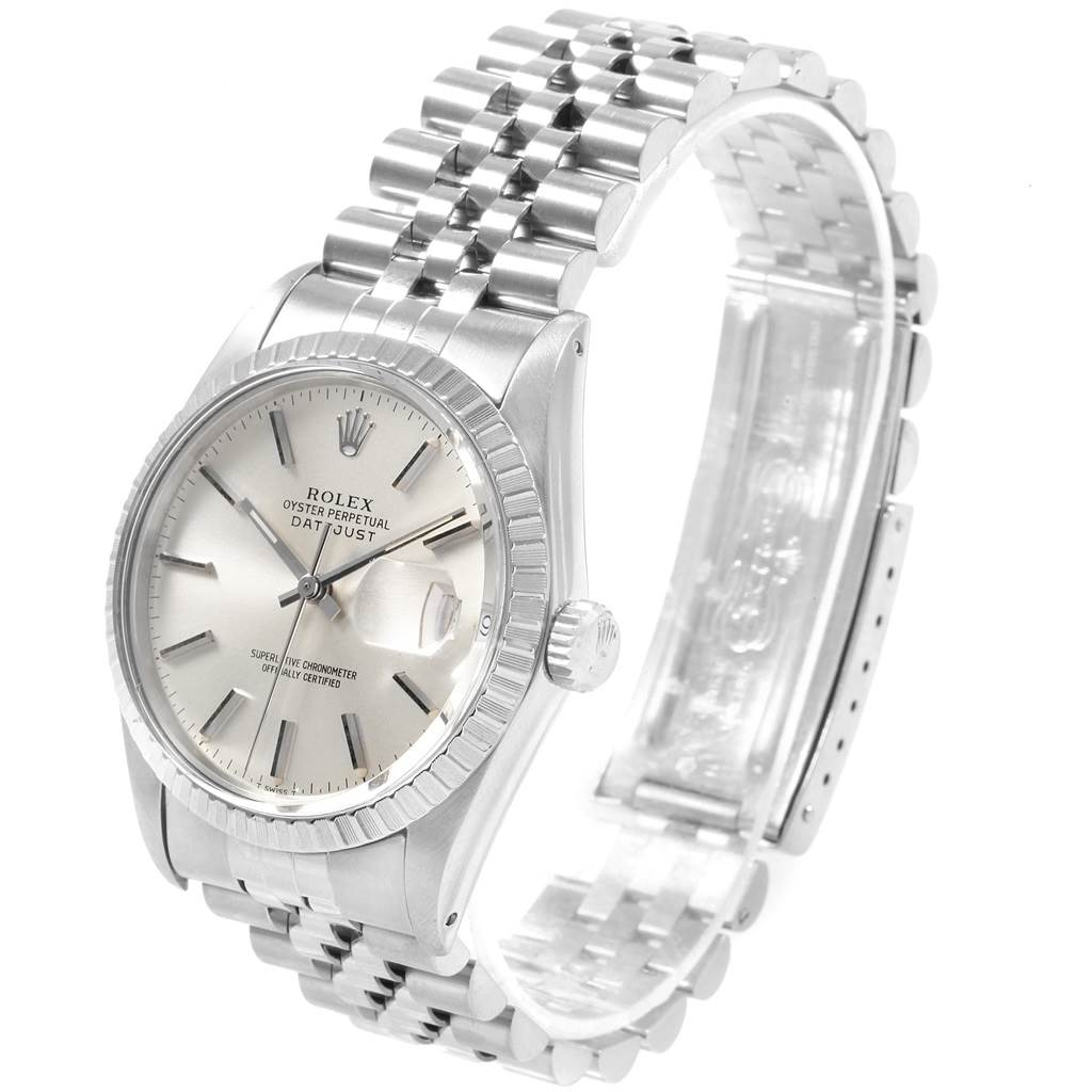 Rolex Datejust Vintage Silver Dial Steel Mens Watch 16030 SwissWatchExpo