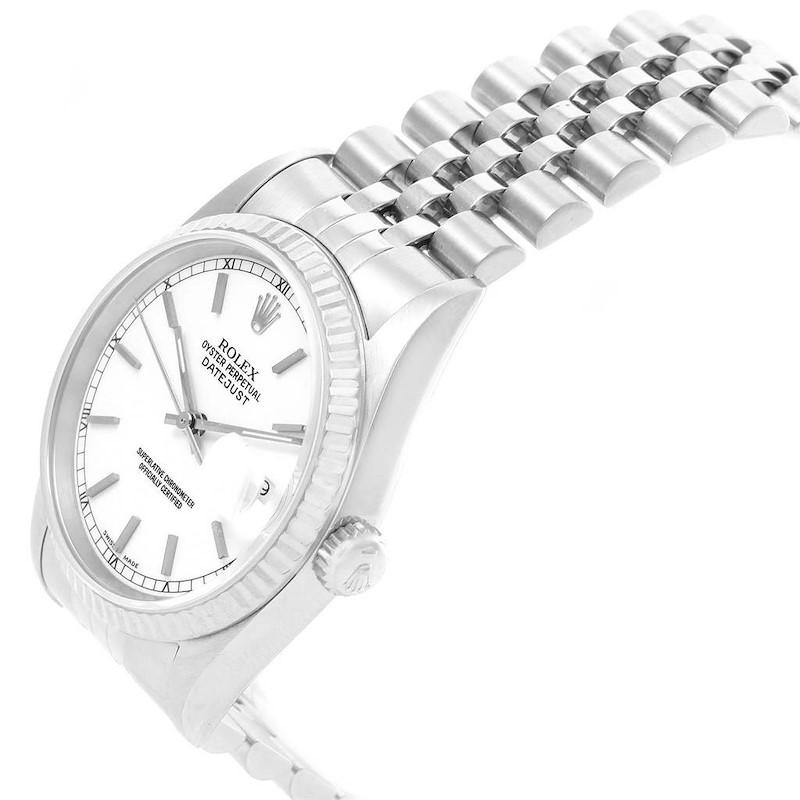 Rolex Datejust 36 Steel White Gold Jubilee Bracelet Mens Watch 16234 SwissWatchExpo