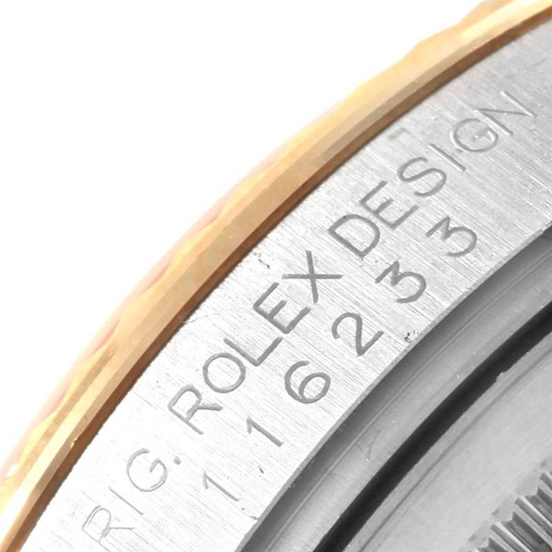 Rolex Datejust Steel Yellow Gold Oyster Bracelet Diamond Mens Watch 116233 SwissWatchExpo
