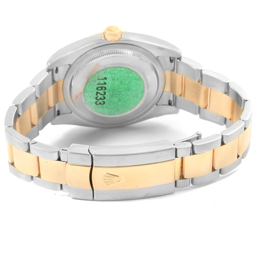 20308 Rolex Datejust Steel Yellow Gold Oyster Bracelet Diamond Mens Watch 116233 SwissWatchExpo