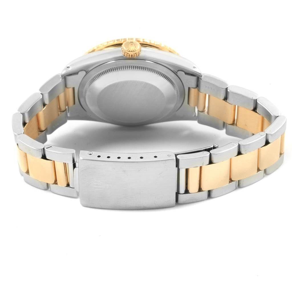Rolex Datejust Turnograph Steel Yellow Gold White Dial Mens Watch 16263 SwissWatchExpo
