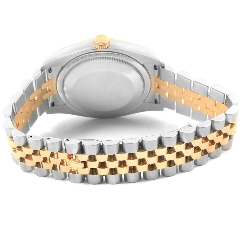 Rolex Datejust Steel Yellow Gold Diamond Mens Watch 116233 Box Papers SwissWatchExpo