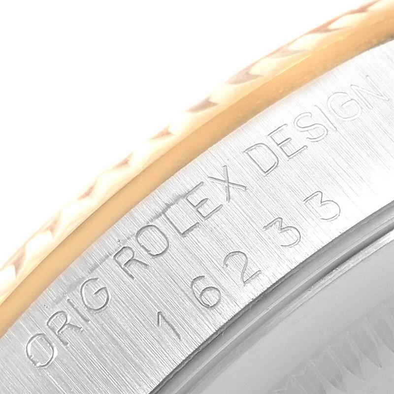 Rolex Datejust 36 Steel 18K Yellow Gold Diamond Dial Mens Watch 16233 SwissWatchExpo