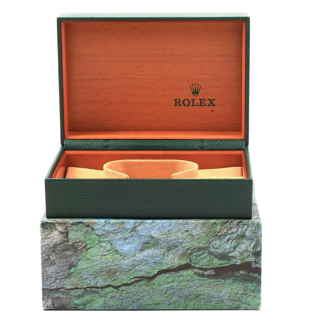 Rolex Datejust 36 Steel White Gold Silver Arabic Dial Mens Watch 16234 SwissWatchExpo