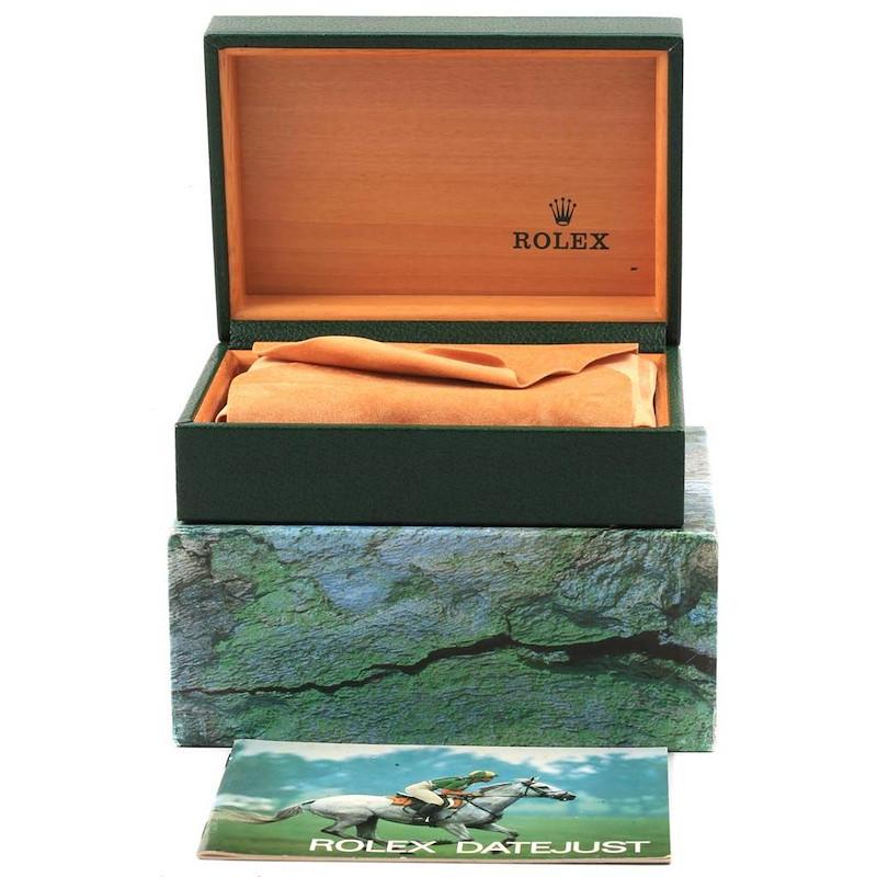 Rolex Datejust Steel Yellow Gold Jubilee Bracelet Mens Watch 16233 SwissWatchExpo