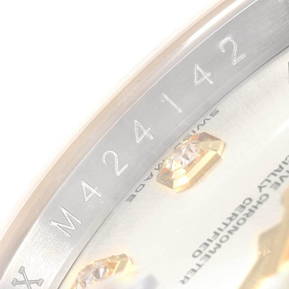 Rolex Datejust 36 Steel Yellow Gold Diamond Mens Watch 116233 Box Card SwissWatchExpo