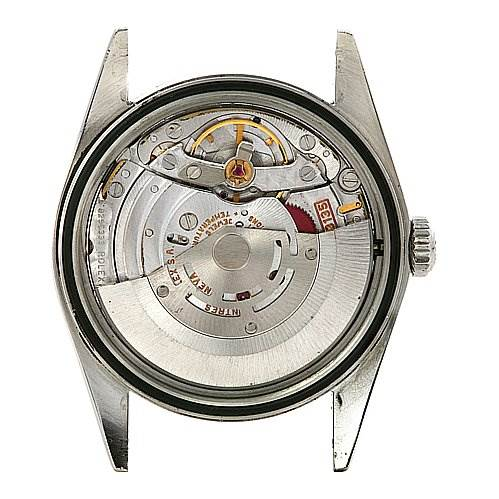 Rolex Datejust Mens Ss White Stick Dial Watch 16220 SwissWatchExpo
