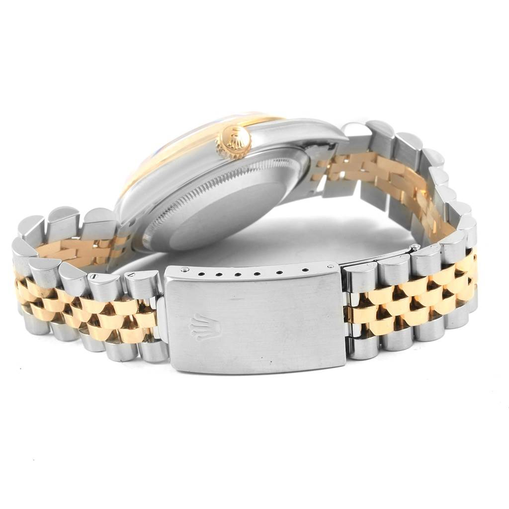 20786 Rolex Datejust 36 Steel Yellow Gold Blue Dial Mens Watch 16233 SwissWatchExpo