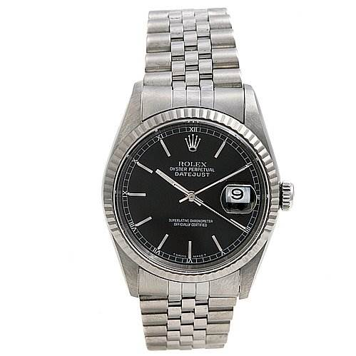 2380 Rolex Datejust Ss 18k White Gold 16234 Watch SwissWatchExpo