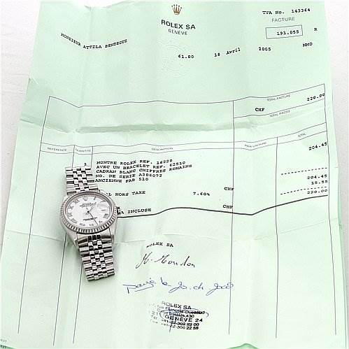 2383 Rolex Datejust Mens Ss White Stick Dial Watch 16220 SwissWatchExpo