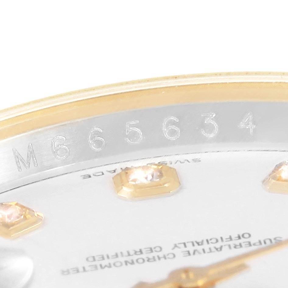 21087 Rolex Datejust Steel Yellow Gold White Diamond Dial Mens Watch 116233 SwissWatchExpo