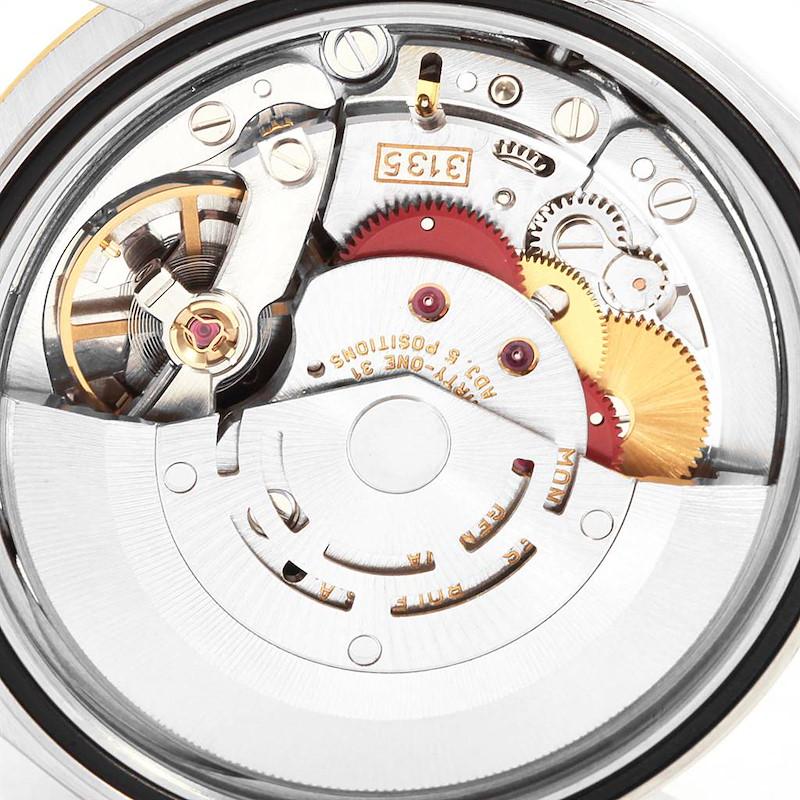 Rolex Datejust 36 Steel Yellow Gold Black Diamond Dial Mens Watch 16233 SwissWatchExpo
