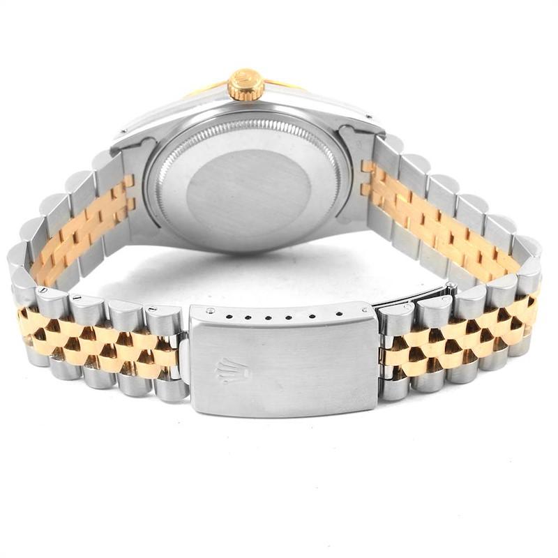 Rolex Datejust 36 Steel Yellow Gold Anniversary Diamond Dial Watch 16013 SwissWatchExpo