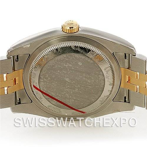 2518 Rolex Datejust  Mens Ss 18k Yellow Gold 116233 Yr 2011 SwissWatchExpo