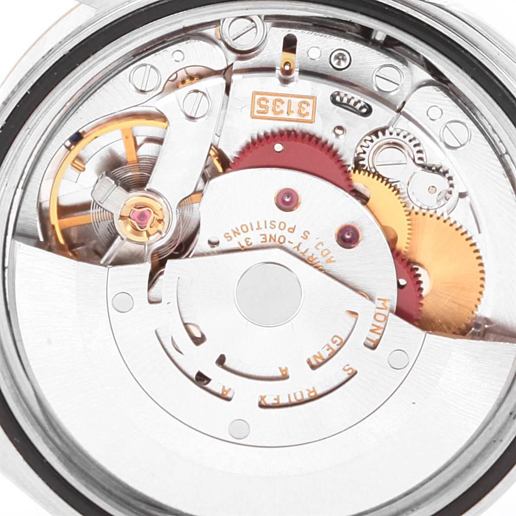 22481 Rolex Datejust 36mm Steel Yellow Gold White Baton Dial Mens Watch 16233 SwissWatchExpo