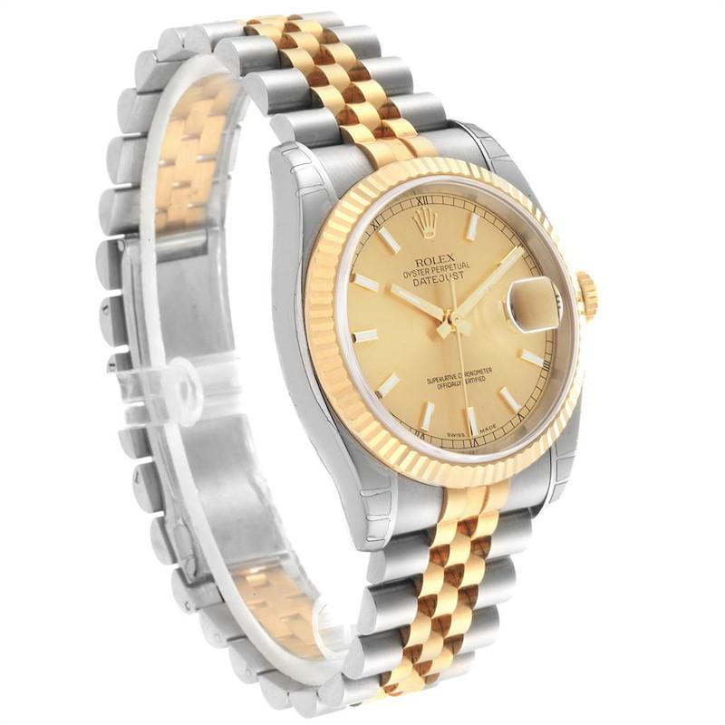 Rolex Datejust Steel Yellow Gold Jubilee Bracelet Mens Watch 116233 Unworn SwissWatchExpo