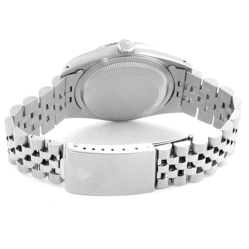 Rolex Datejust White Dial Jubilee Bracelet Steel & White Gold Mens Watch 16234 SwissWatchExpo