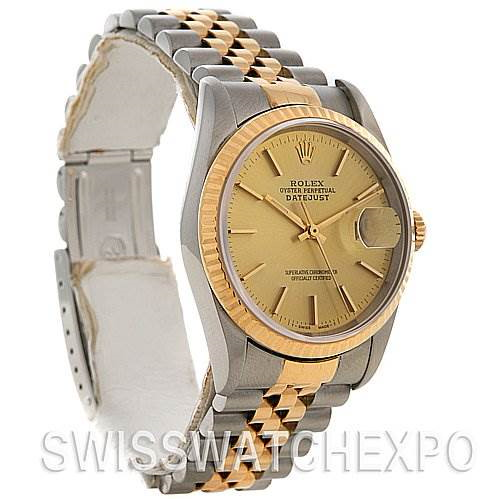 Rolex Rolex Datejust Watch Champagne Dial 16233 SwissWatchExpo